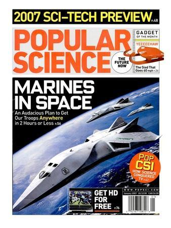 Front cover of Popular Science Magazine: January 1, 2007