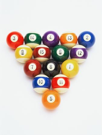 Pool balls in formation