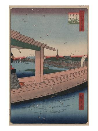 Distant View of Kinryu-zan Temple and Azuma Bridge