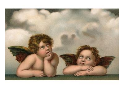 Postcard of Cherubim After a Detail of Sistine Madonna