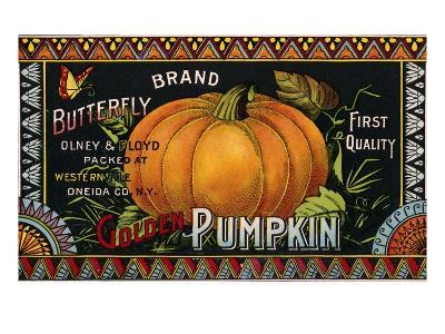 Butterfly Brand Golden Pumpkin Product Label