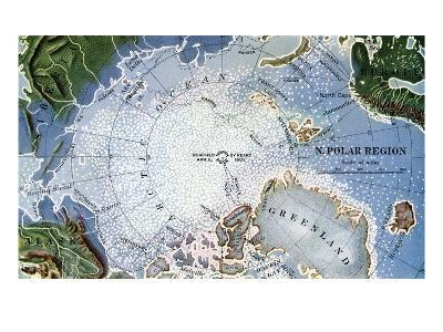 Map of Peary's North Pole Expedition