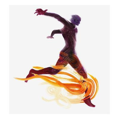 Runner and Flames