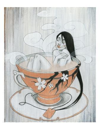 Woman Finding Comfort in Hot Tea