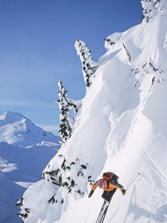 Skier on table mountain north cascades
