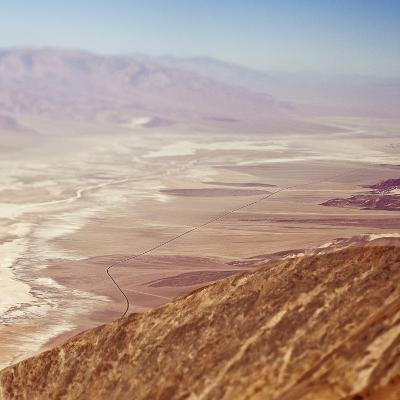 Aerial View of Desert Valley