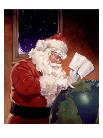Santa Claus And Globe