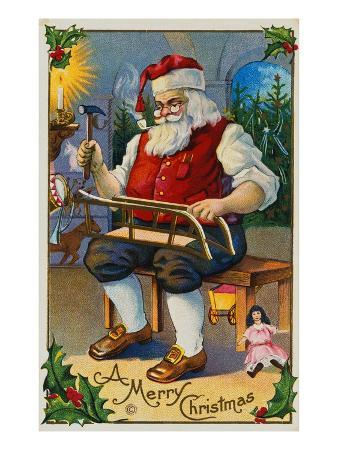 A Merry Christmas with Santa in His Workshop