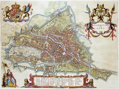 Gandavum, Map of Ghent