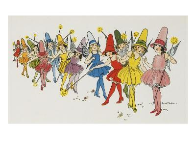Book Illustration Depicting Fairies by Eulalie