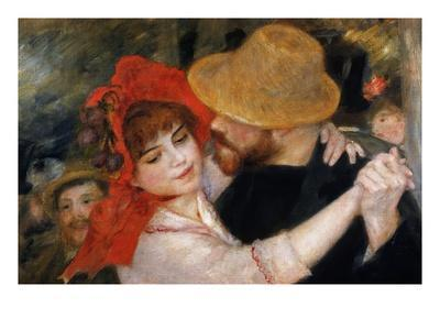 Detail of Dancing Couple from Le Bal a Bougival
