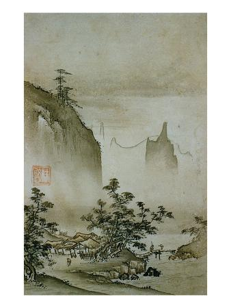 View of a Small Village from Eight Views of the Xiao and Xiang Rivers