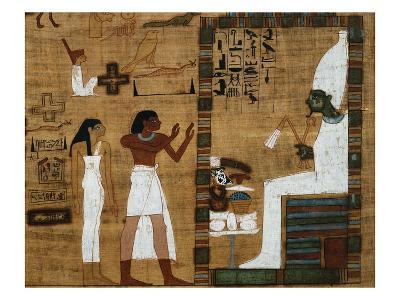 The Dead Before Osiris, the Supreme Judge from Book of the Dead