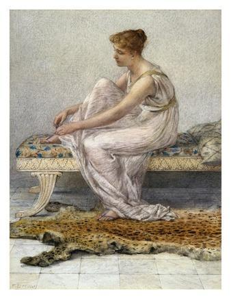 Woman on Divan by Francis Millet