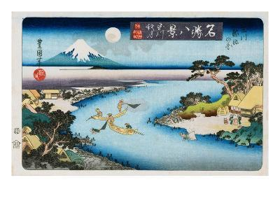 Autumn Moon, Tama River, from the Series Eight Views of Famous Places