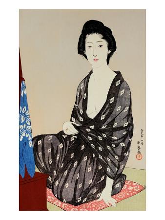 Tsuru Nakatani as a Young Beauty in a Gauze Robe