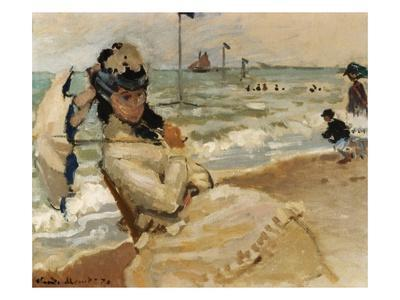 Camille [Monet] on the Beach, Trouville