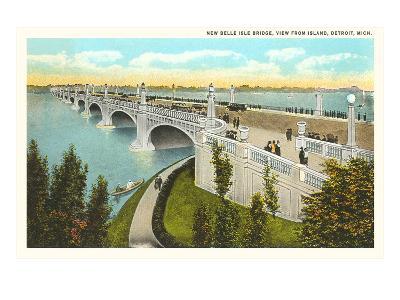 Belle Isle Bridge, Detroit, Michigan