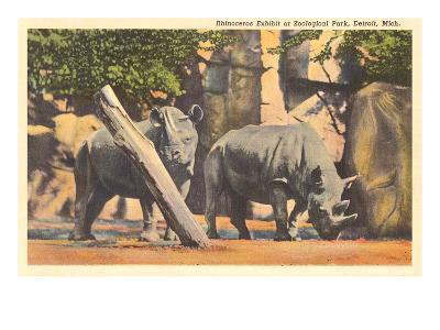 Rhinoceros at Zoo, Detroit, Michigan