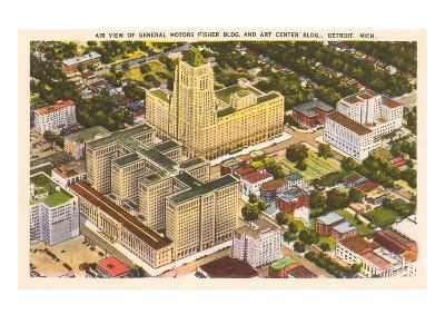 Aerial View, General Motors, Detroit, Michigan