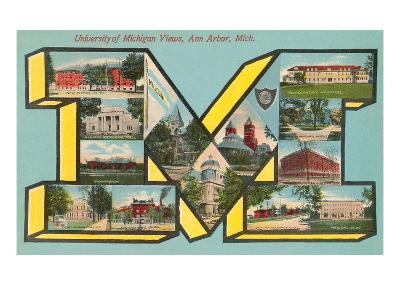 University of Michigan Views, 'M'