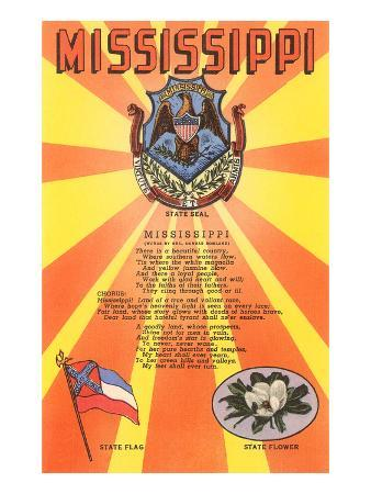 Mississippi Song, Seal, Flag and Flower