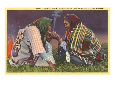Blackfeet Indian Women, Glacier Park, Montana