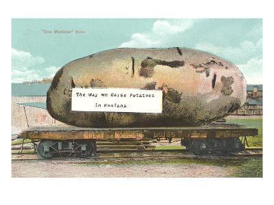 Giant Potato on Flatbed, Montana