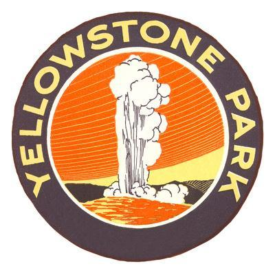 Yellowstone Park Logo, Montana
