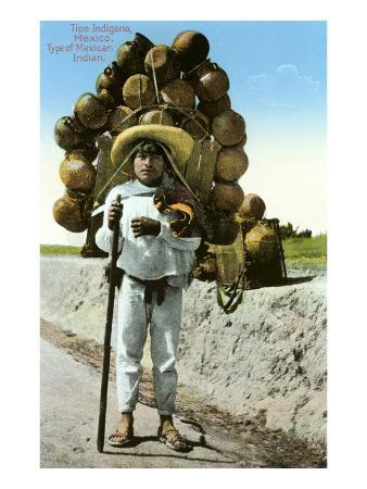Indian Peasant Carrying Pots