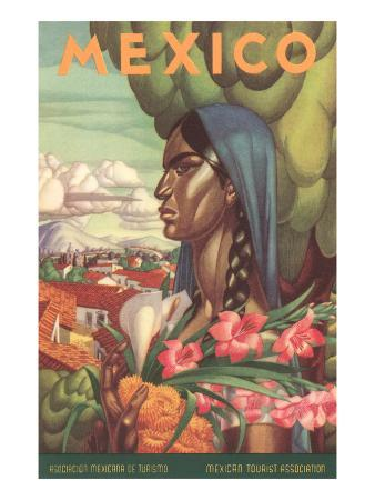 Mexico Poster, Native Woman