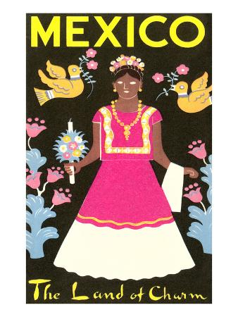 Mexico, The Land of Charm, Lady in Native Dress
