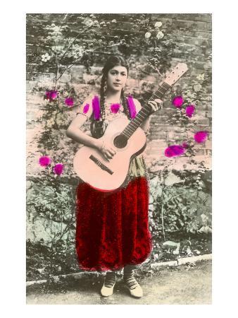 Senorita with Guitar