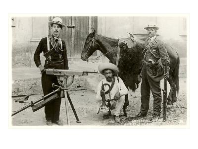 Mexican Revolutionaries with Gatling Gun