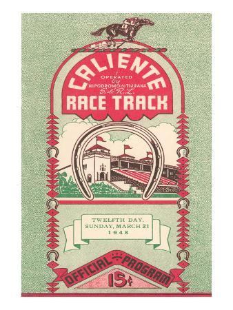 Program from Caliente Racetrack