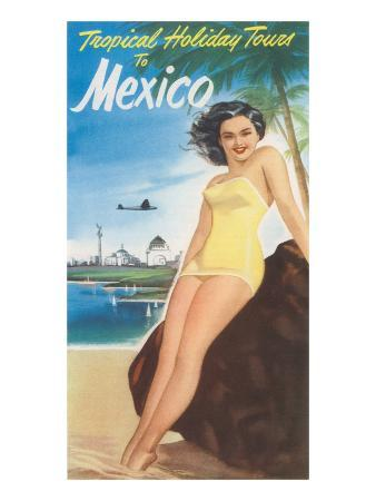 Travel Poster of Mexican Beach