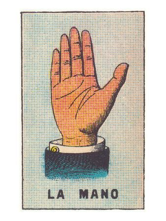 Mexican Fortune Telling Card, Hand
