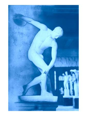 Negative Shot of Discus Thrower Statue