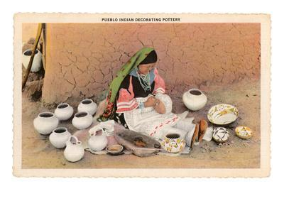 Pueblo Indian Painting Pottery