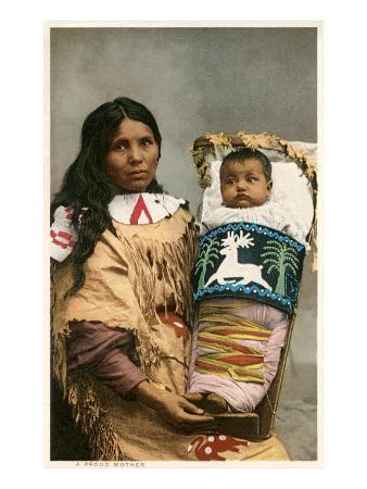 Menominee Indian Woman with Papoose