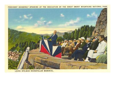 FDR Dedicating Great Smoky Mountains National Park, North Carolina