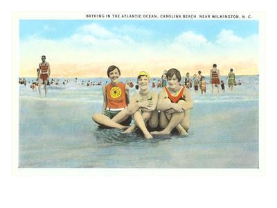 Bathers, Carolina Beach, Wilmington, North Carolina