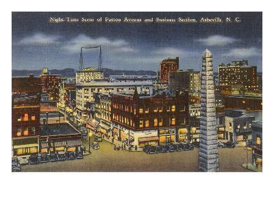 Night, Downtown Asheville, North Carolina