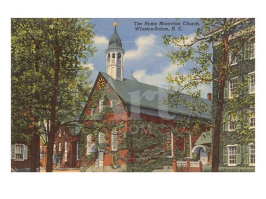 Home Moravian Church, Winston-Salem, North Carolina Prints at ...