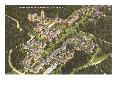 Aerial View, Duke University, Durham, North Carolina