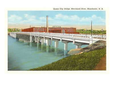 Queen City Bridge, Merrimack River, Manchester, New Hampshire