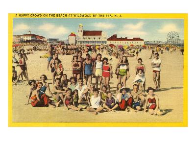 Beachgoers at Wildwood-by-the-Sea, New Jersey