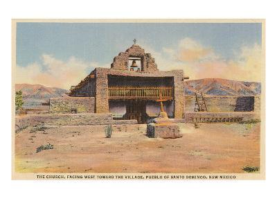 Church, Santo Domingo Pueblo, New Mexico