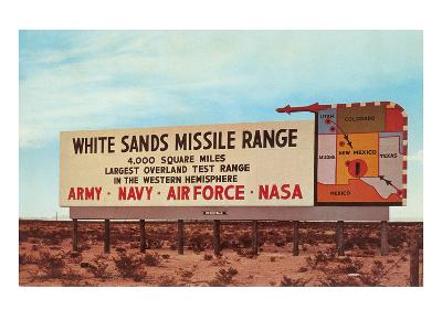 Billboard, White Sands Missile Range, New Mexico