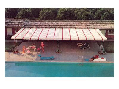 Suburban Backyard Pool, Retro
